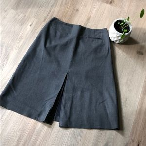 Gray a-line  midi skirt from Talbots - size 4